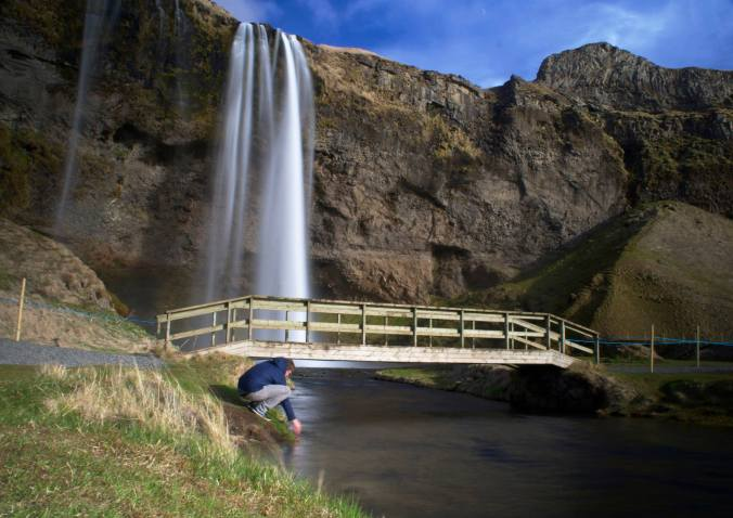 Seljalandsfoss (F). You can walk behind the falls too. Hands down one of the most amazing sights we've ever seen.