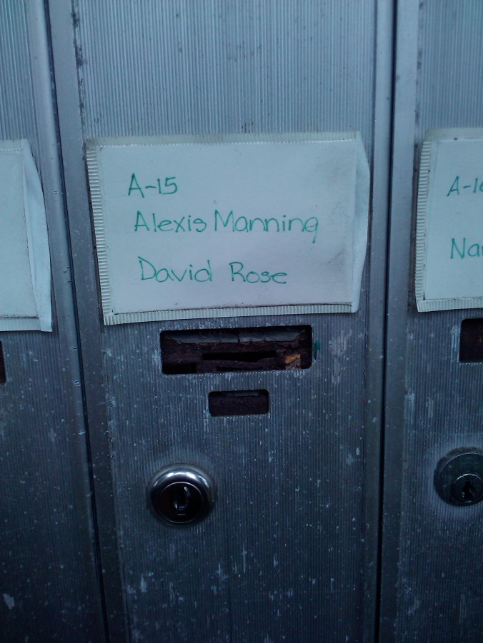 I remember being so excited that our names were together on the same mailbox for the first time.
