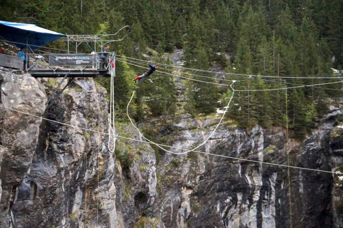 Bungee jumping -- check! Doing it in Switzerland was icing on top.