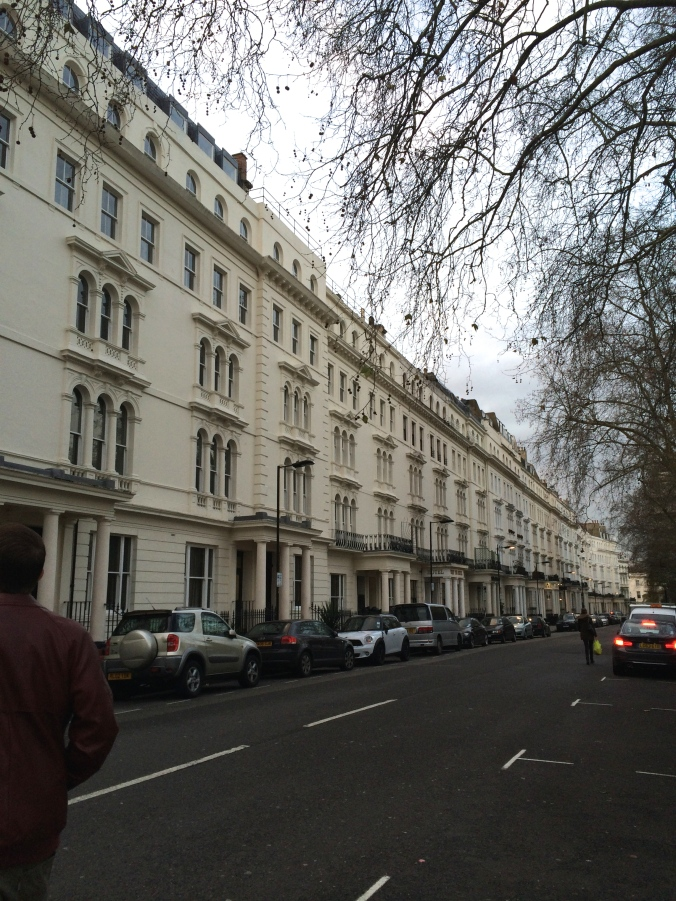 Our street in London.