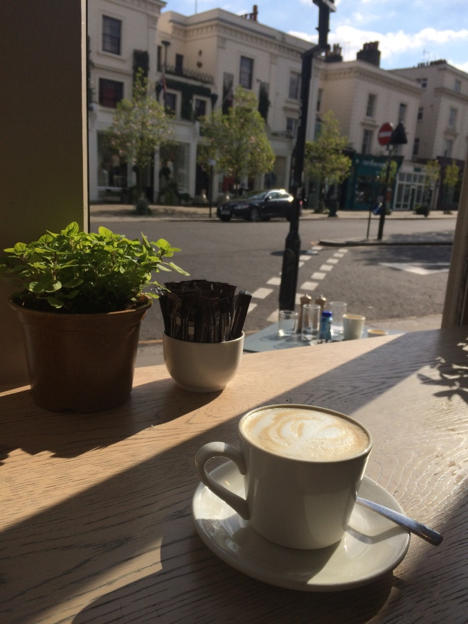 Enjoy a nice cup of coffee in Notting Hill at Daylesford.