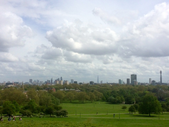 Making big life decisions is easier on a beautiful sunny day on Primrose Hill.
