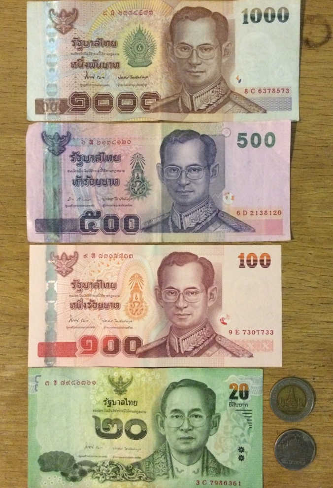 A few tips: 1) A few restaurants won't accept 1,000 baht bills because they don't carry enough change. 2) Stockpile 20 baht bills for songthaew rides. 3) Same with 10 baht coins as you'll need them for laundry machines which cost between 20-40 baht.