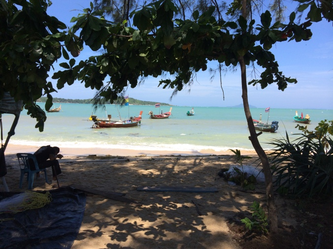 Seeing all the traditional Thai fishing boats at Rawai Beach helped us get over the disappointment of Karon Beach.