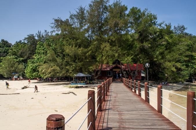 The dock at Sapi Island, Borneo, Malaysia