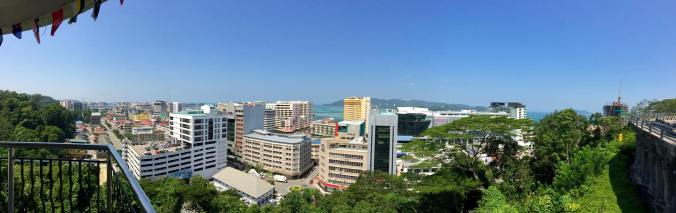 View of Kota Kinabalu from Signal Hill Observatory Platform