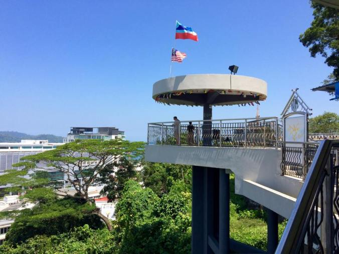 The Signal Hill Observatory Platform in Kota Kinabalu, Borneo