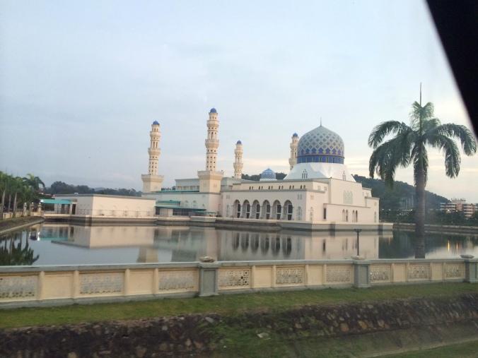 The floating mosque near Kota Kinabalu, Sabah, Borneo, Malaysia
