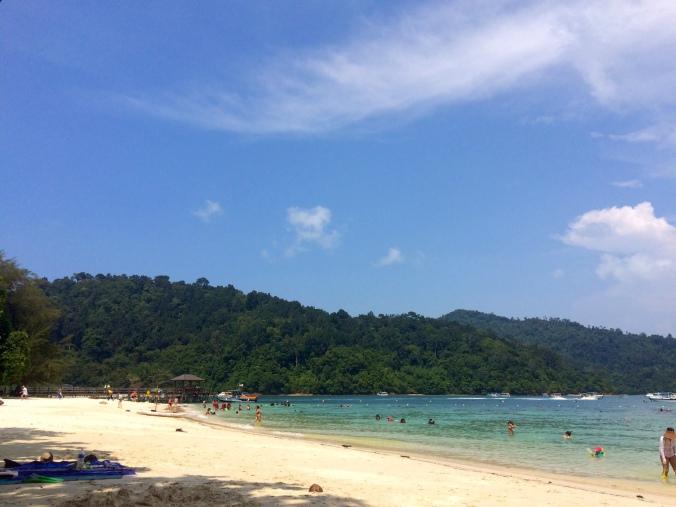 White sand on Sapi Island, Malaysia