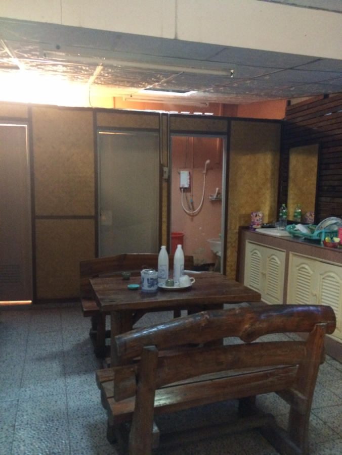 Thai Sauna showers and able with drinks