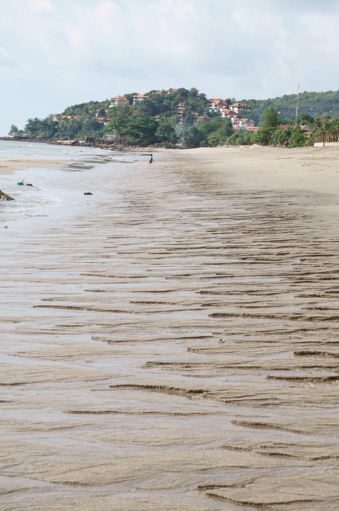 Strange sand formations on Klong Nin Beach, Ko Lanta, Thailand