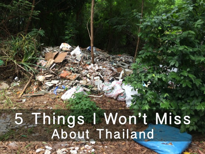 "A pile of garbage in a picture titled ""5 Things I Won't Miss About Thailand"""