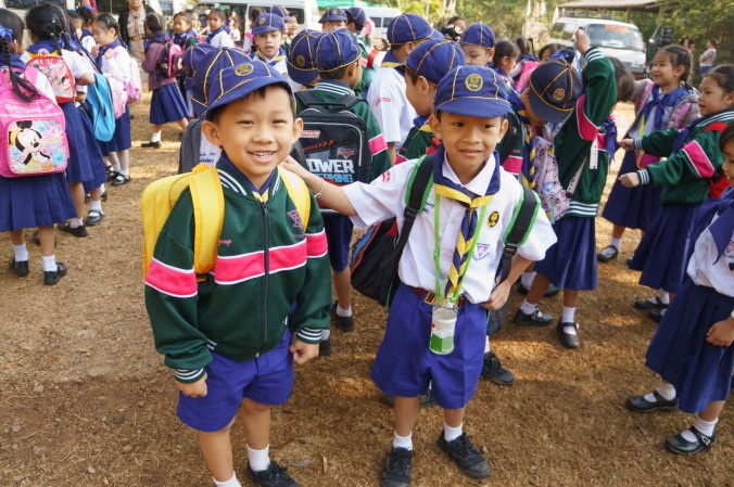 Young boy scouts in Chiang Mai, Thailand
