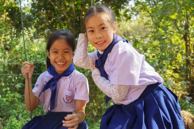 Girl scouts in Chiang Mai, Thailand