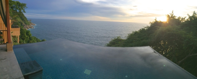 View from the Paresa Resort Cliff Pool Villa Phuket Thailand