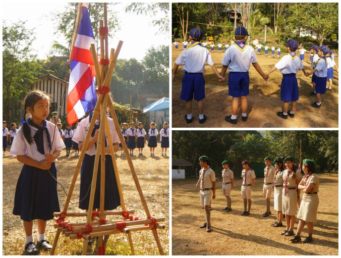 Scouts in Chiang Mai, Thailand Collage