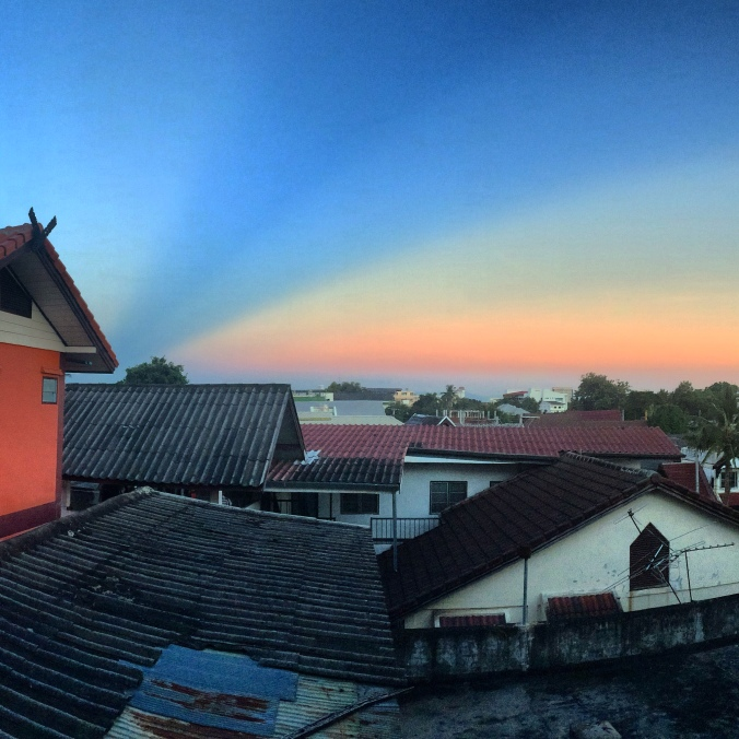 sunrise in chiang mai thailand