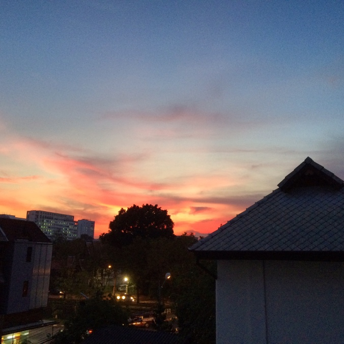 chiang mai thailand sunset