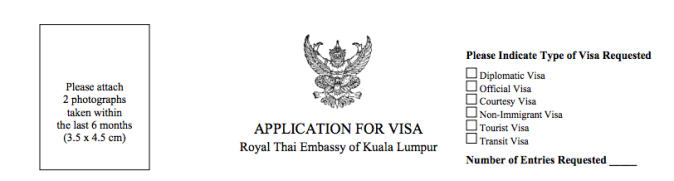 applying for a tourist visa in kuala lumpur