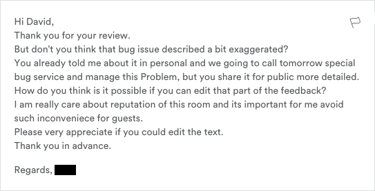 should i edit my airbnb review